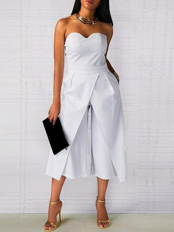 Plain Full Length Loose Jumpsuit