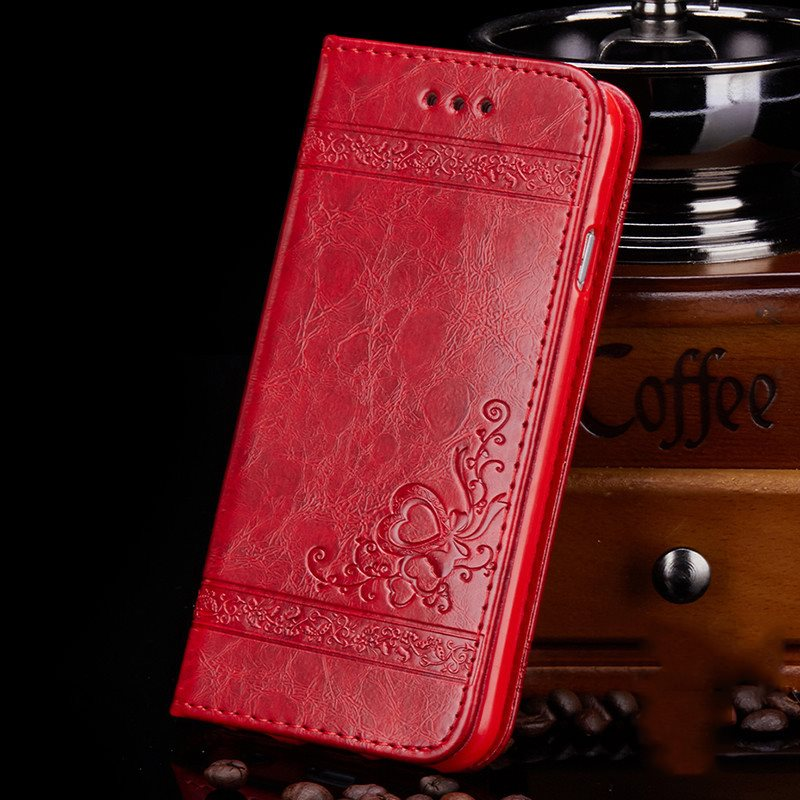 Flip-Open Cover Mobile Phone Shell PU Phone Case