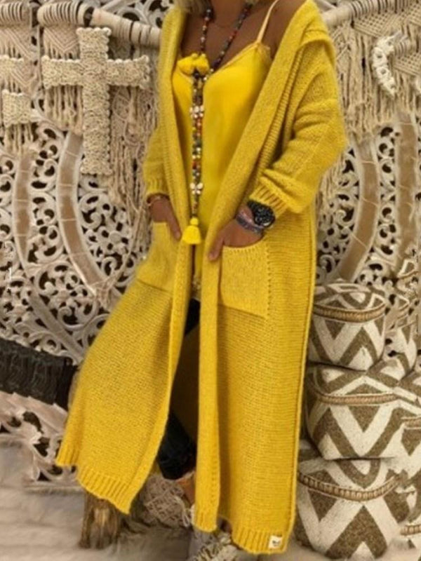 Hooded Long Fashion Fall Trench Coat