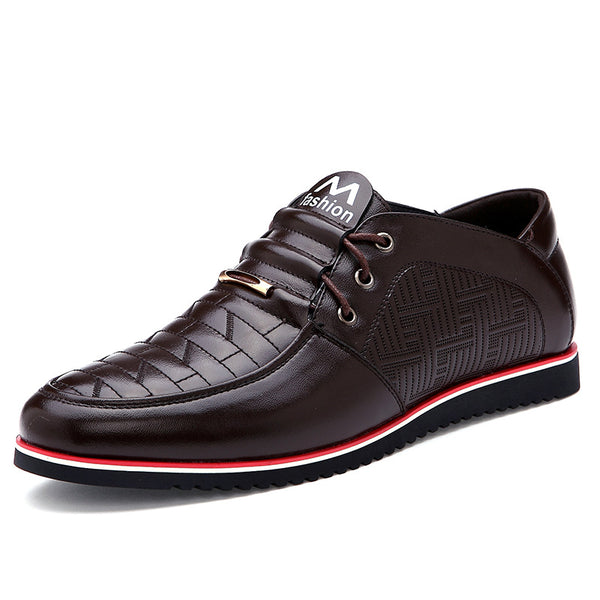 Purfle Plain Lace-Up Front Low-Cut Men's Oxfords