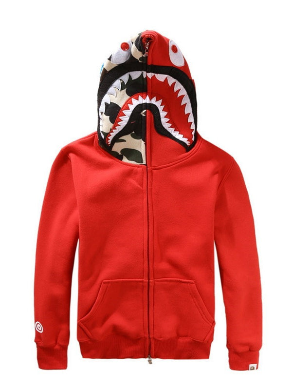 Polaire Patchwork Camouflage Printemps Zipper Hoodies