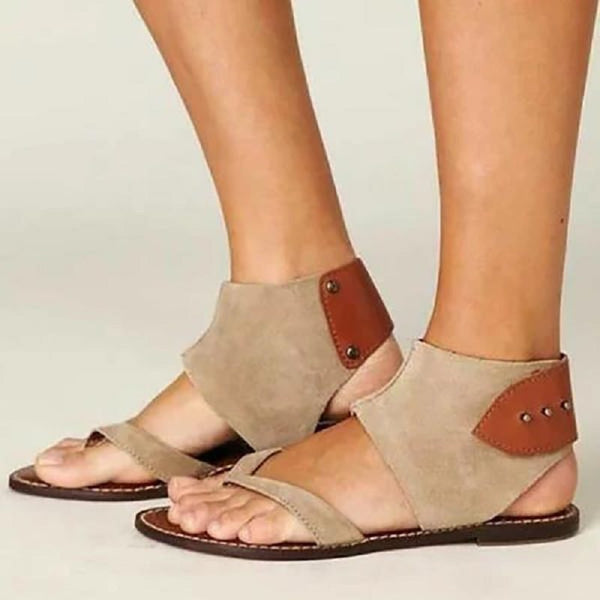 Buckle Thong Flat With Western Sandals