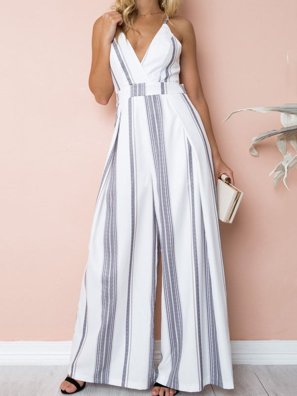 Jumpsuit ample à rayures amples