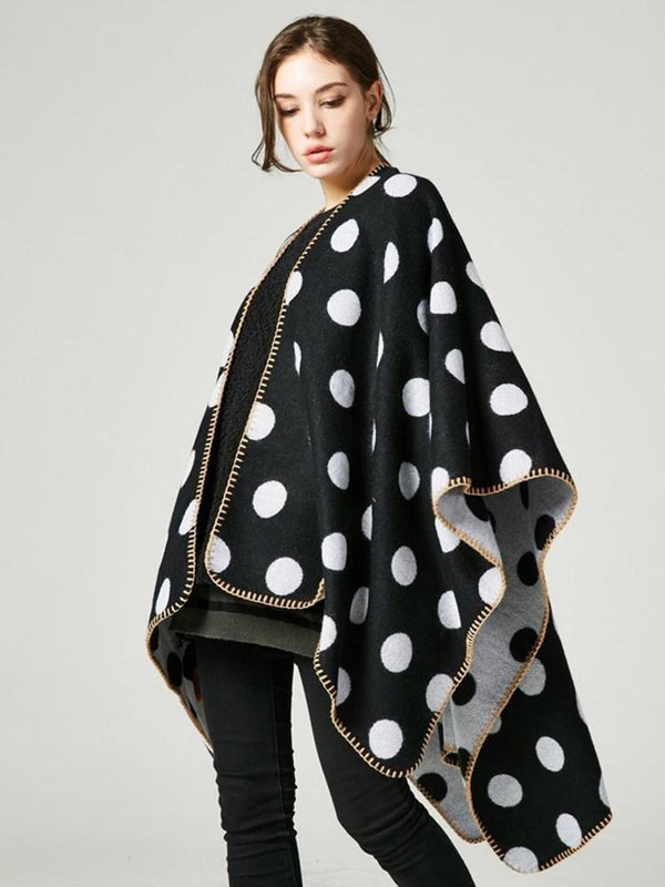 Polka Dots Western Fall Cape