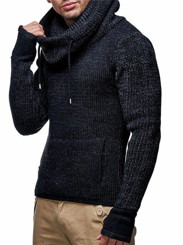Plain Hooded Standard Winter Slim Sweater