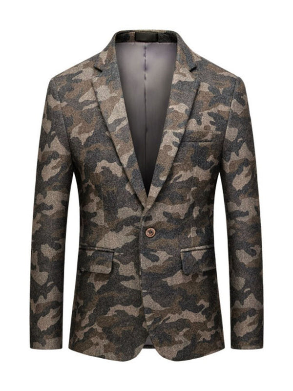 Camouflage Fashion One Button Freizeitanzug