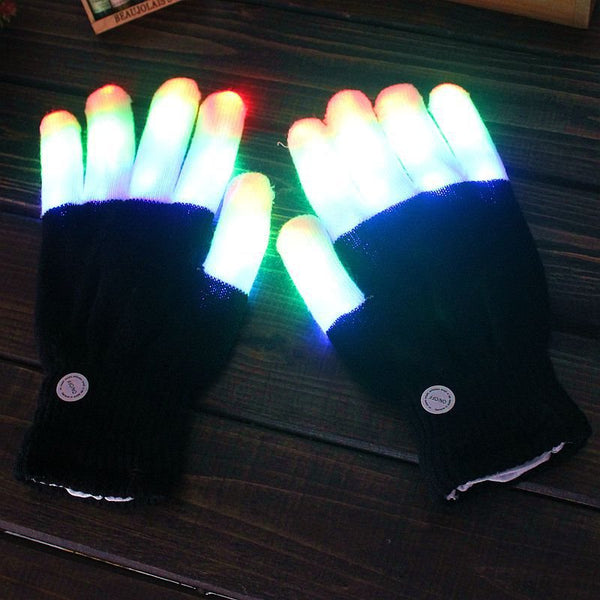 Gants de performance lumineux colorés à led