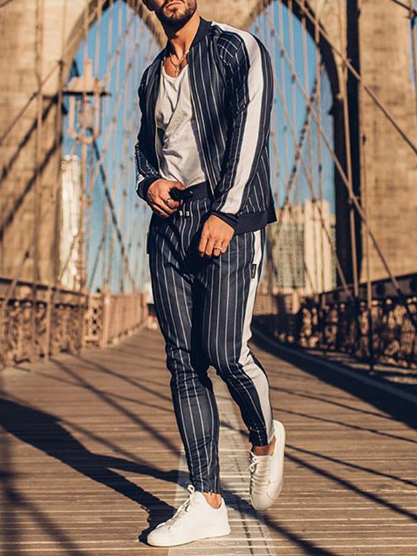 Sports Pants Stripe Spring Outfit
