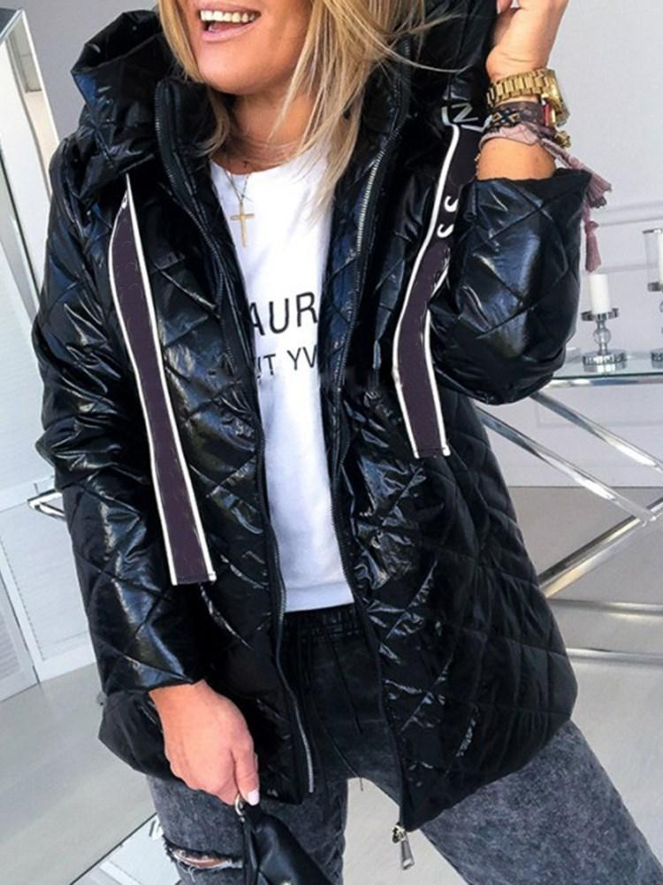 Loose Zipper Thick Mid-Length Cotton Padded Jacket