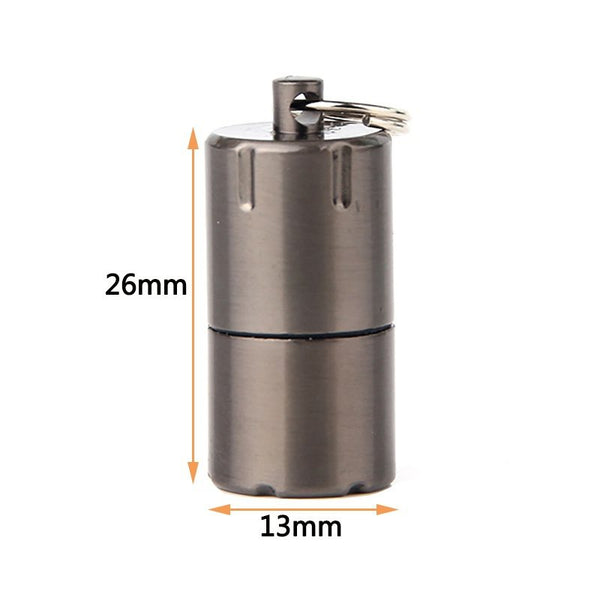 Mini Compact Kerosene Lighter Key Chain Capsule Gasoline Lighter Inflated Keychain Petrol Lighter Outdoor Key Chain