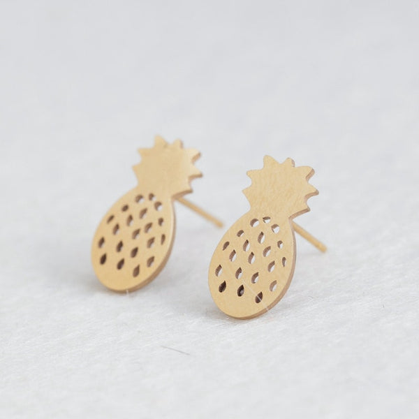 Stainless Steel Cute Stud Earrings Carnations for Girls
