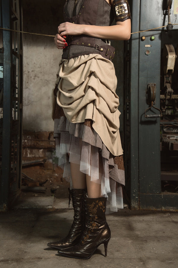 Steampunk Europe and America Palace Style Women Long Skirts