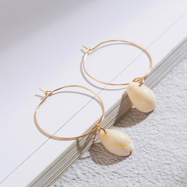 Shell Dangle Drop Earrings for Women
