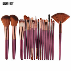 15 / 18 Pcs Professional Powder Foundation Blush Eye Shadow Eyeliner Lip Make up Strumenti pennello