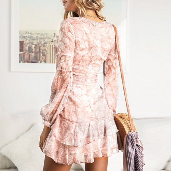 Print Summer Dresses Elegant Party Short Dress