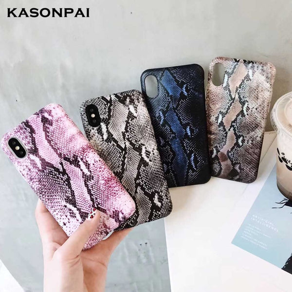 Funda con forma de serpiente y textura para el iPhone Apple iPhone 7 8 6 6S Plus X XR XS MAX