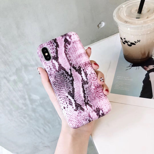 Snake Skin Texture Photo Phone Case For Apple iPhone 7 8 6 6S Plus X XR XS MAX