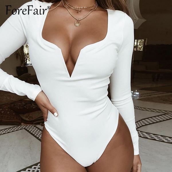 Black Red White Burgundy Slim Body Women Sexy Bodysuit