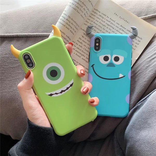 Coque téléphone 3D Monsters University pour iPhone 6 6 7 plus X XS XR XS MAX