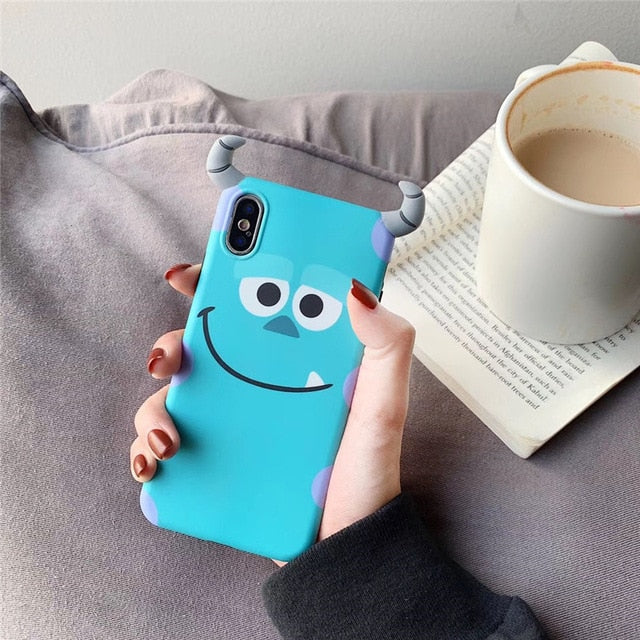 3D Monsters University cartoon Phone case for iPhone 6 6s 7 8 plus X XS XR XS MAX