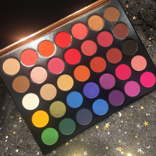 35 Color Studio matte Eye Shadow Power Palette Glitter Highlighter Shimmer