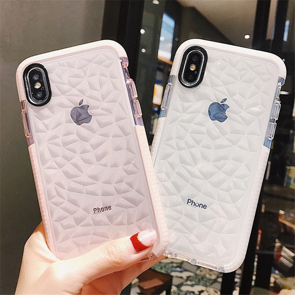Custodia per cellulare per iPhone X XR XS Max Custodia trasparente in TPU trasparente Cover trasparente per iPhone 7 8 6 6s Plus