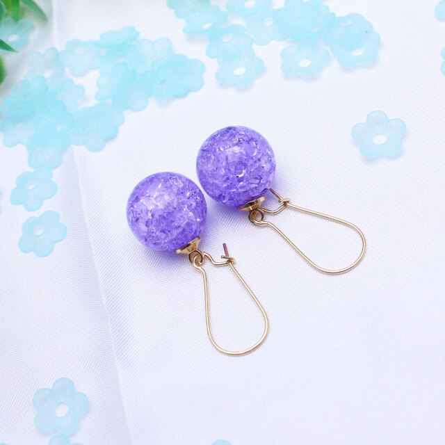 Women Gift Summer Style Candy Color Earrings