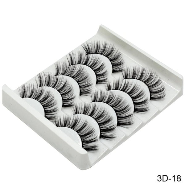 Soft 3D Faux Mink Lashes Natural False Eyelashes Handmade Thick Eyelash Extension