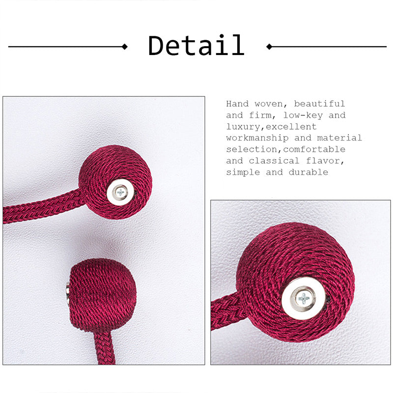 Magnetic Curtain Tiebacks, 1 PCS - snowcity