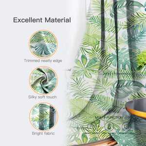 Blackout Banana Leaf Short Curtains, 1 Panel - snowcity
