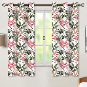Printing Blackout Short Curtains, 1 Panel - snowcity