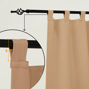 Outdoor Waterproof Tab Top Curtains, 1 Pcs - snowcity