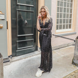 Midi dress polka zwart