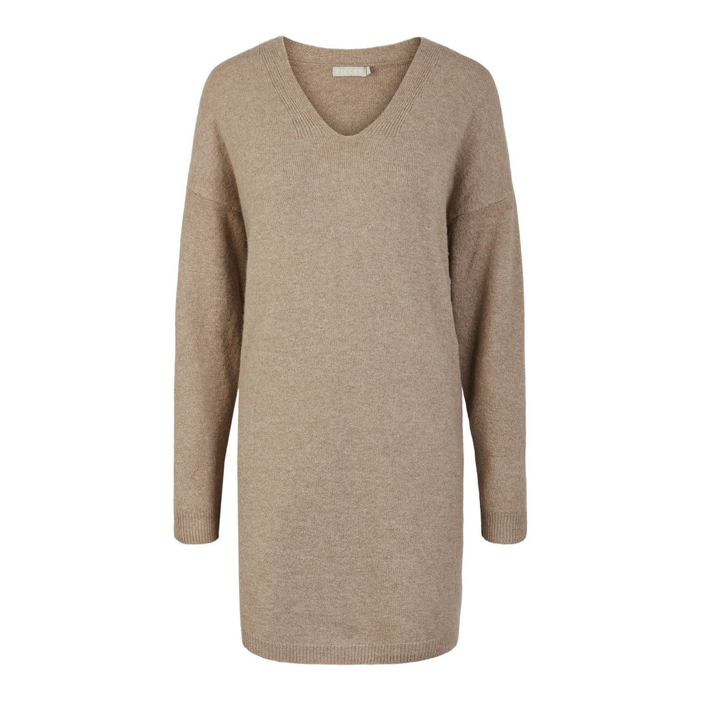 Star knit dress taupe