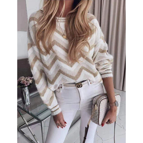 Filled with gold knit