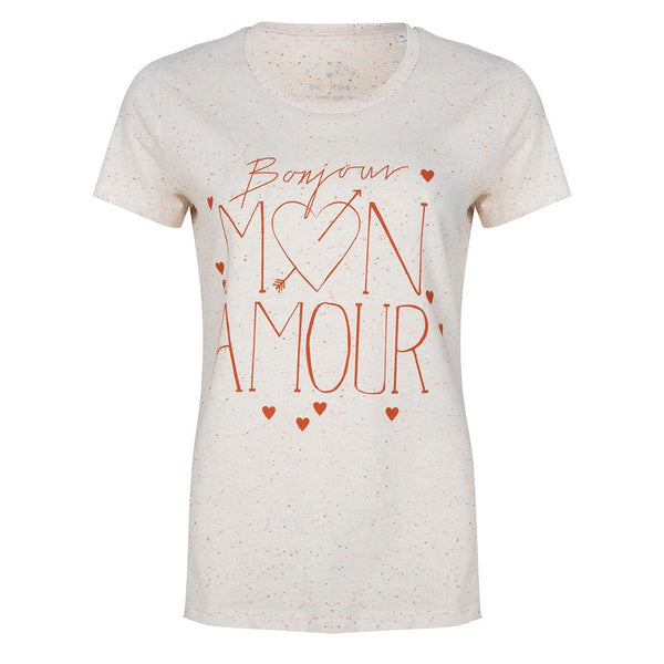 Mon Amour tee rose
