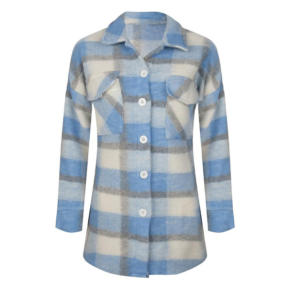 Double check jacket blue