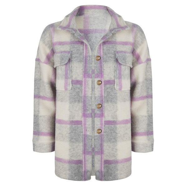 Checked jacket lila
