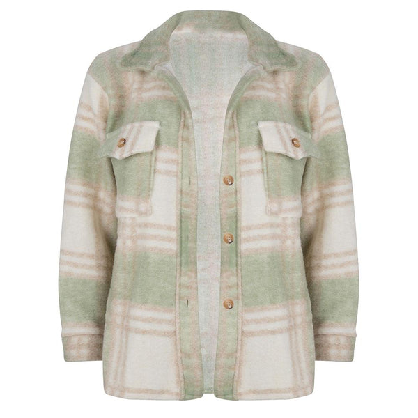 Checked jacket groen