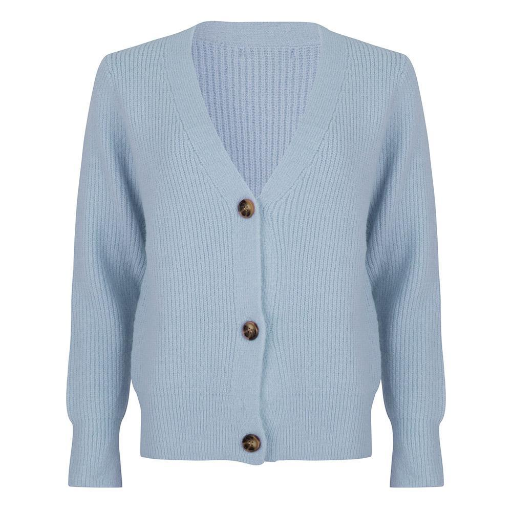 Button cardigan blauw