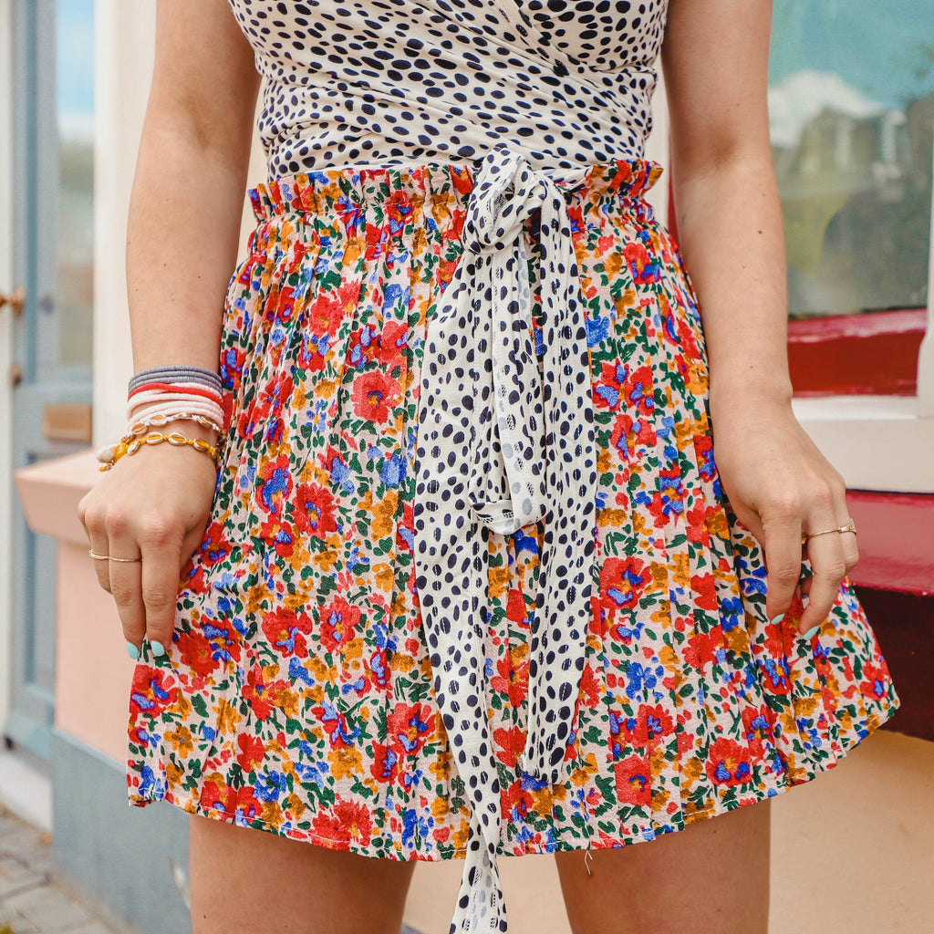 Summer flower skirt