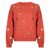 Star sweater rust