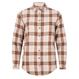 Checked blouse beige