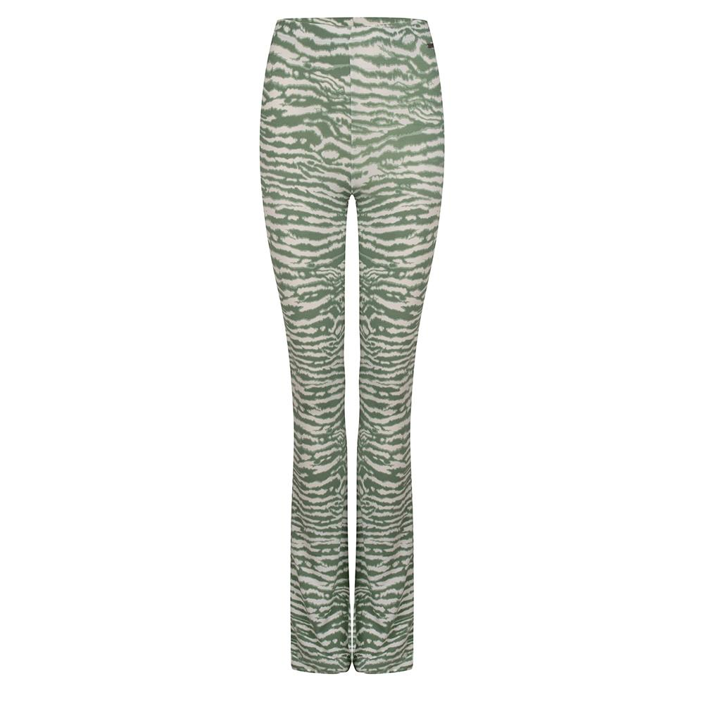 Soft flared legging zebra groen