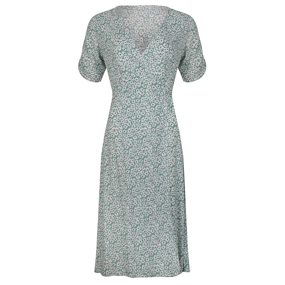 Lily flower dress mint