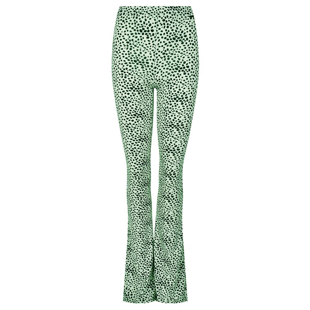 Flared legging met stipjes mint