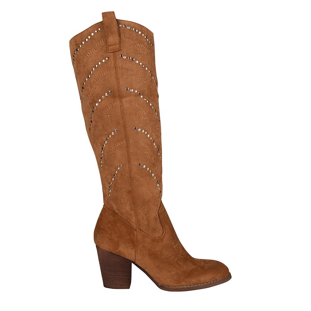 Western boot suede camel