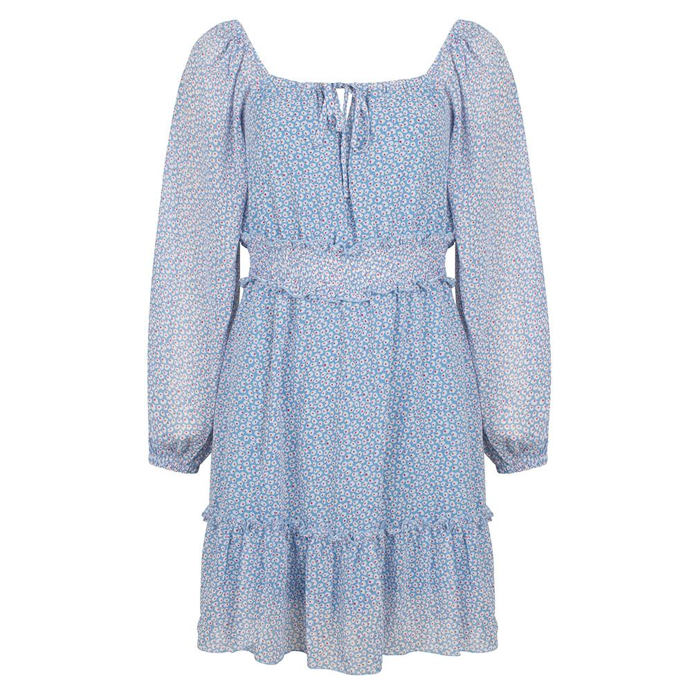 Tiny flower dress blue