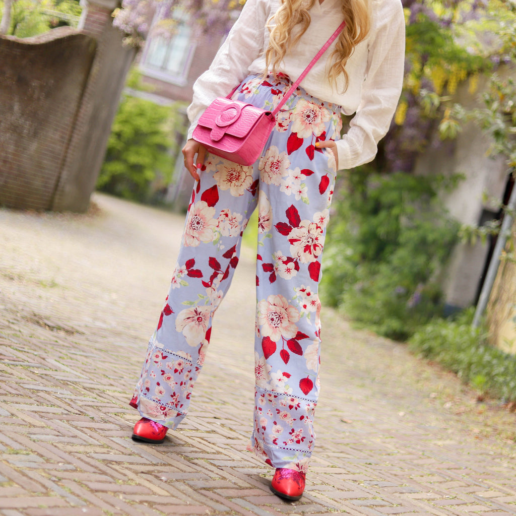 Julie flared rib broek army