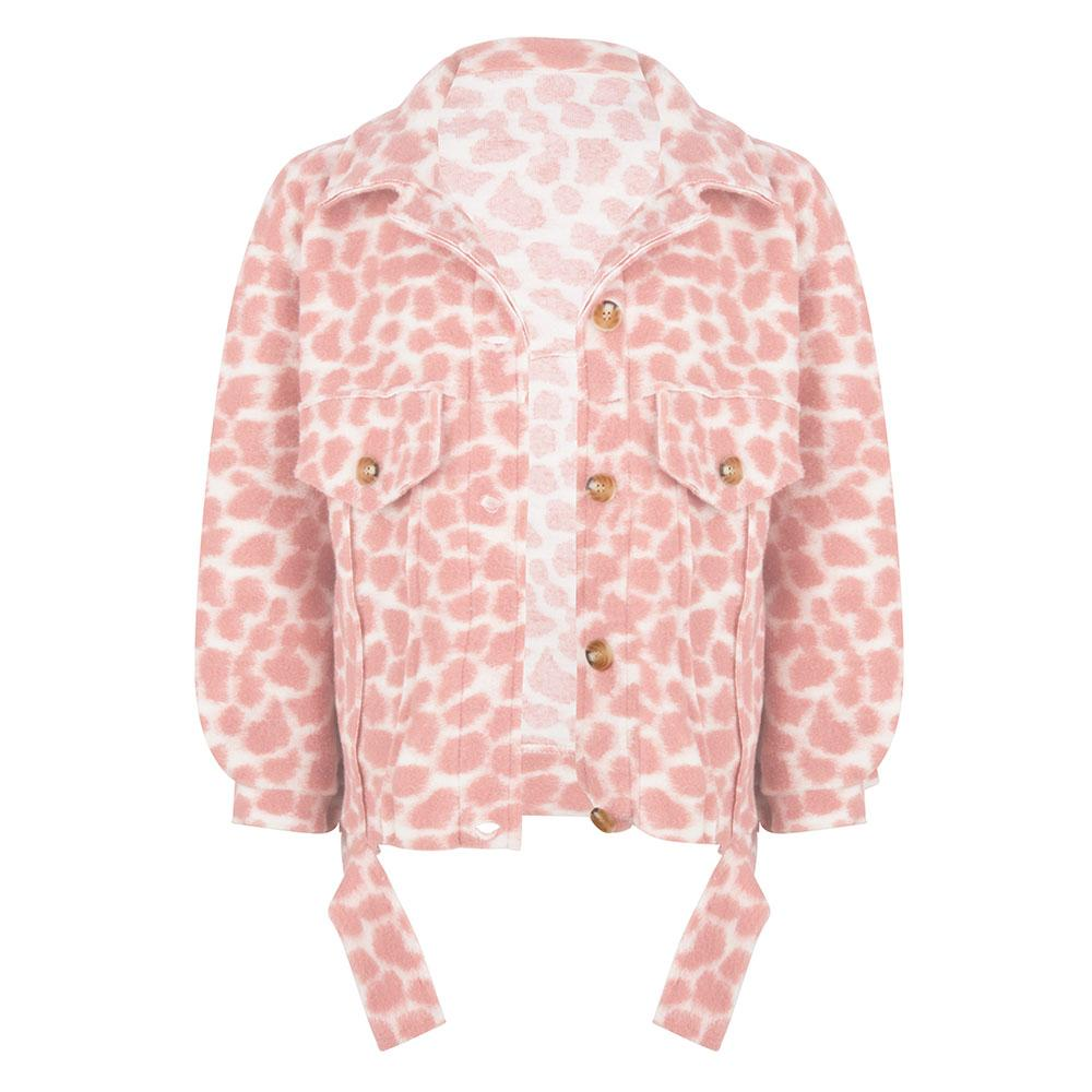 Leopard jacket rose